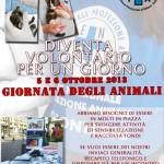 Giornata degli animali 2013: diventa VOLONTARIO PER UN GIORNO!
