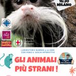 Il 26 gennaio al Nuovo Teatro Ariberto a Milano ENPA insieme a PROF&GIANCHI raccontano gli animali più strani del mondo